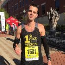 Tyler O'Brien of Jacksonville, FL, winner of the men's half marathon